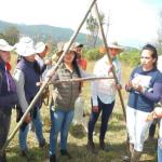 """Taller: Producción agrícola y conservación de suelo y agua ( construcción del aparato """"A"""")"""