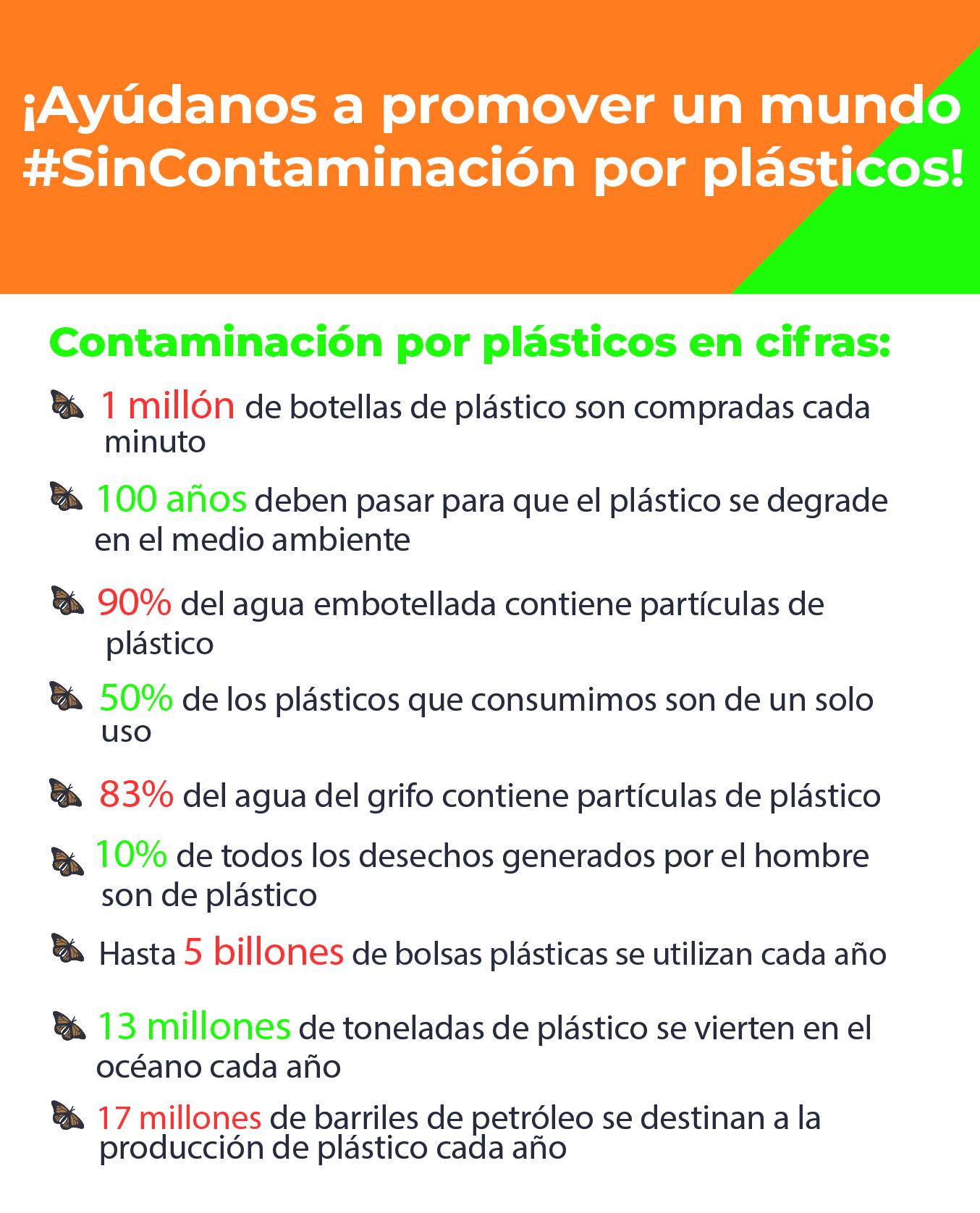 Algunos datos sobre la contaminación por plásticos en el mundo