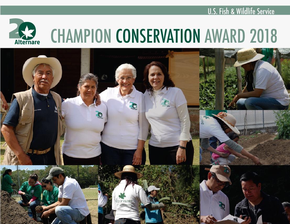 ALTERNARE- CONSERVATION CHAMPION AWARD