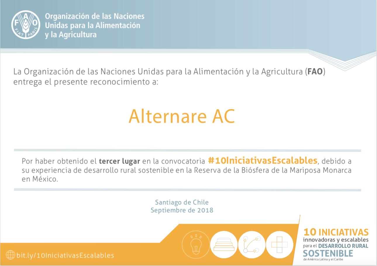 Reconocimiento FAO- ALTERNARE